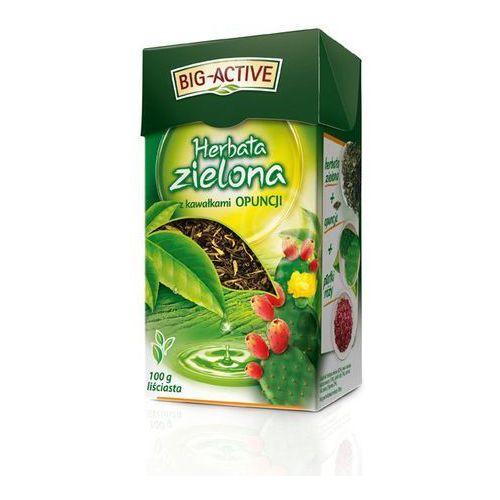 Herbata zielona z kawałkami opuncji Big-Active 100 g, 5905548350134