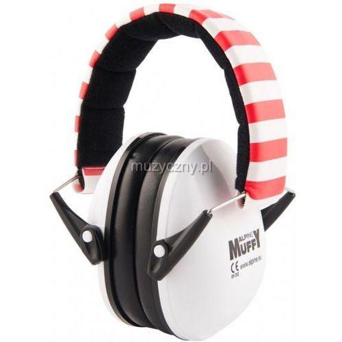 Alpine muffy white ochronniki słuchu dla dzieci białe