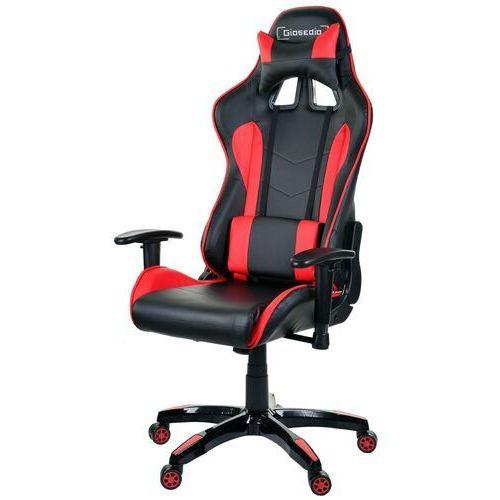 Giosedio Fotel biurowy czarno-czerwony,model gsa041