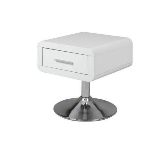 A.D. A.D. Comfort Biały Stolik Nocny Lakierowany na Wysoki Połysk 40x40 cm - 0000047909 - produkt dostępny w Sanit-Express.pl