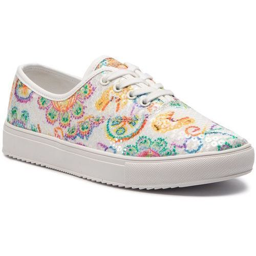 Tenisówki DESIGUAL - Shoes Queen Skull 19SSKF15 1000
