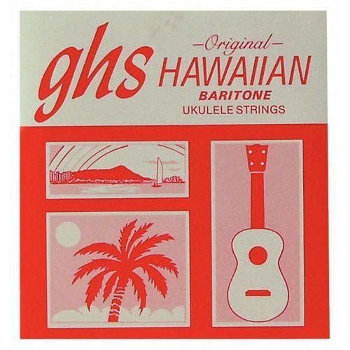 ukulele nylon tie-ends struny do ukulele, baritone, black nylon marki Ghs
