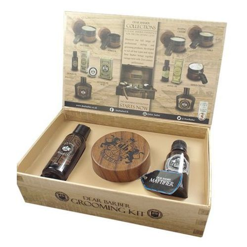 Dear barber style and go mattifier kit   zestaw do stylizacji: szampon + pasta + woda toaletowa (5014147000057)