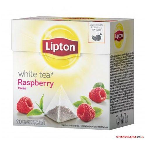 Herbata LIPTON piramidka white raspbery (20 saszetek)