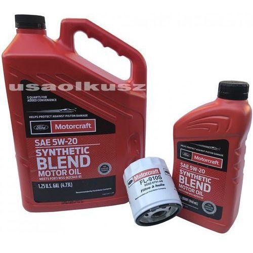 Oryginalny filtr oraz syntetyczny olej silnikowy 5w20 mazda tribute 2,5 duratec marki Motorcraft