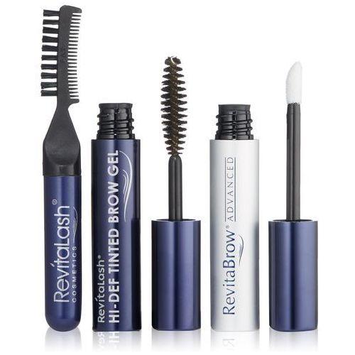 Revitalash total brow beauty   zestaw podkreślający brwi odżywka 1,5ml, żel 3ml, grzebyczek