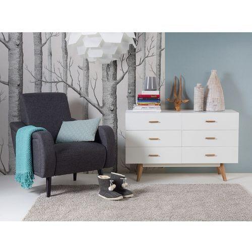 Beliani Fotel ciemnoszary – do salonu – tapicerowany – stylowy - bangor