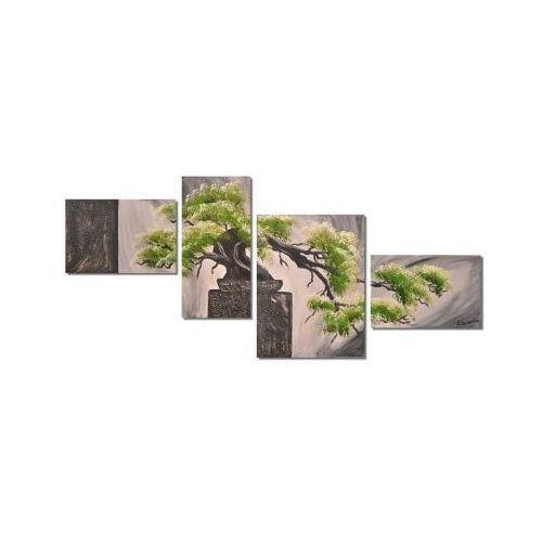 Bonsai, obraz wieloczęściowy ręcznie malowany (obraz)
