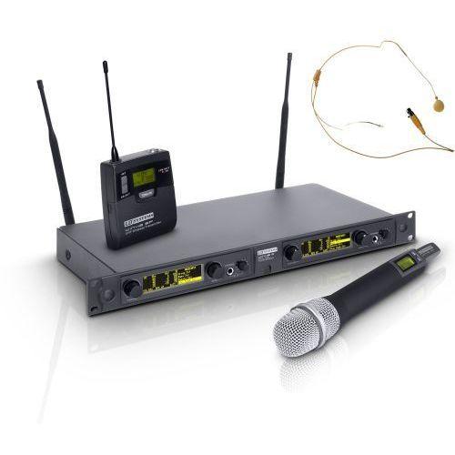 Ld systems win 42 hbhh 2 mikrofon bezprzewodowy nagłowny (kolor beżowy) i doręczny
