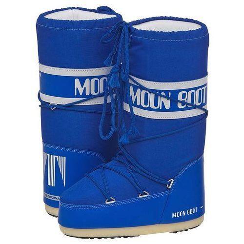 Śniegowce Moon Boot Nylon Azur 14004400069 (MB2-e), kolor niebieski