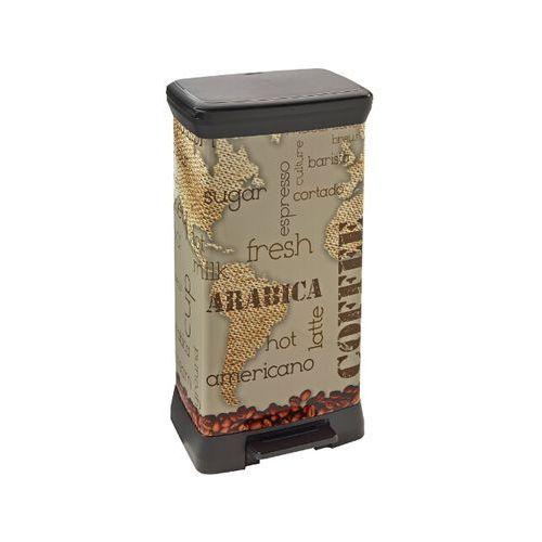 Kosz na śmieci metalizowany 50L z pedałem coffee 213591 Curver - produkt z kategorii- kosze na śmieci
