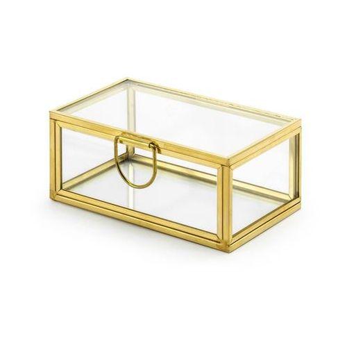 Szklane pudełko na obrączki złote - 1 szt.