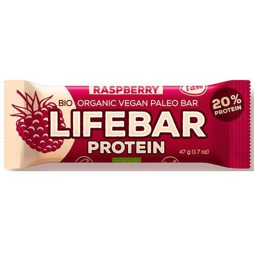 Lifefood (batony i inne produkty raw) Baton malinowy proteinowy z białkiem ryżowym bio 47 g - lifefood