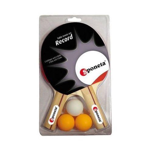 Zestaw rakietek do tenisa stołowego + 3 piłeczki record marki Sponeta