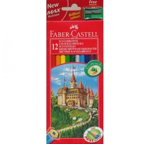 Kredki ołówkowe 12kol. Faber-Castell Eco + temp. 120112, 84803