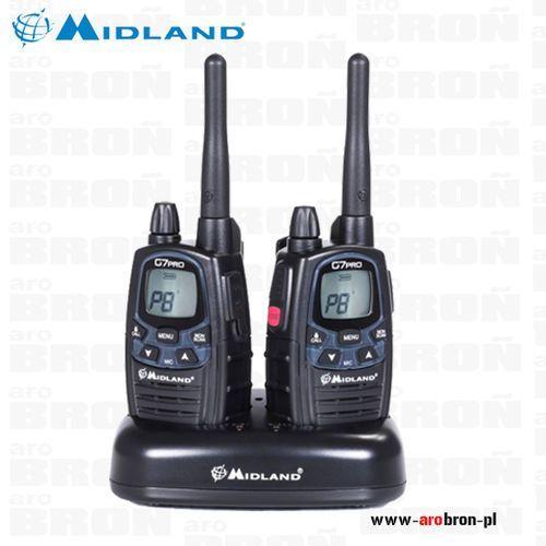 Radiotelefon MIDLAND G7 Pro Zestaw 2szt + ładowarka - krótkofalówki 2 szt - NAJNOWSZY MODEL