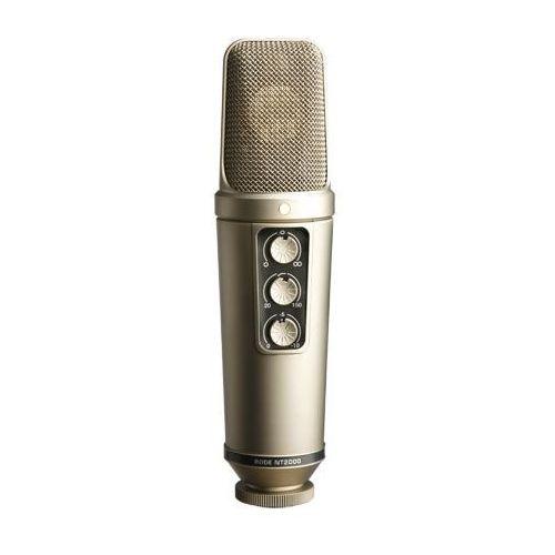 """Rode nt2000 - studyjny mikrofon pojemnościowy -5% na pierwsze zakupy z kodem """"start""""! (0698813000029)"""
