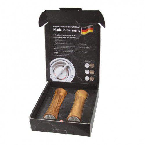 Zassenhaus Frankfurt zestaw 2 młynków do soli i pieprzu z drewna oliwnego 18 cm (4006528023046)