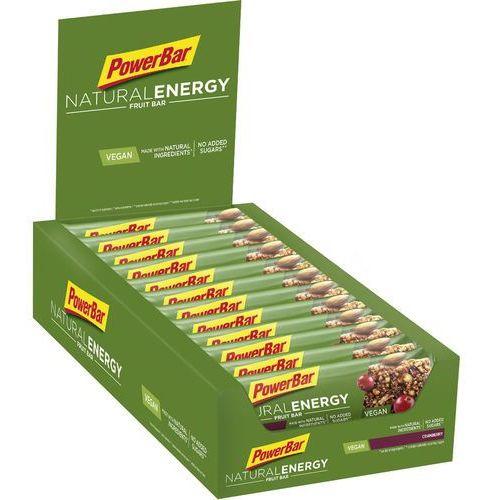 natural energy fruit bar żywność dla sportowców cranberry 24 x 40g 2019 batony i żele energetyczne marki Powerbar
