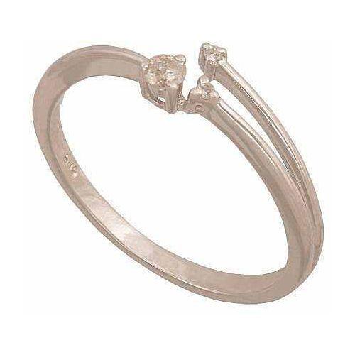 Pierścionek z białego złota z brylantami 24376, pierścionek Rodium