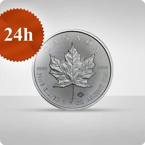 Kanadyjski liść klonowy 1 uncja srebra - wysyłka 24 h! - 24h marki Royal canadian mint