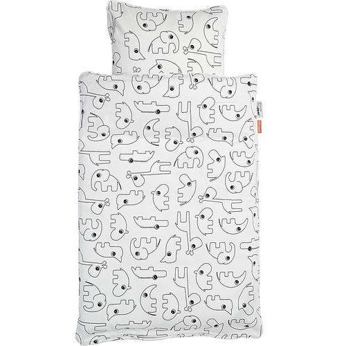 Done by deer Pościel dla niemowlęcia contour 100 x 70 cm biała
