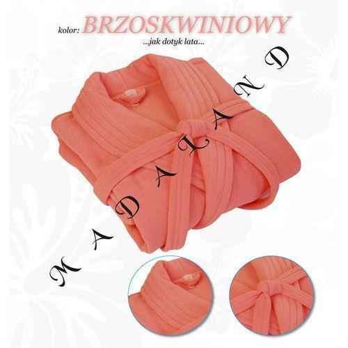 Długi szlafrok bez kaptura firmy Dorota kolor brzoskwiniowy z kategorii szlafroki damskie