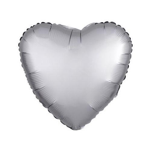 Amscan Balon foliowy serce srebrne - 43 cm - 1 szt. (0026635368063)