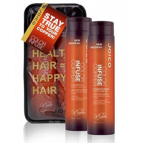 Joico Color Infuse Copper | Zestaw podkreślający kolor włosów miedzianych: szampon 300ml + odżywka 300ml (0744694402022)