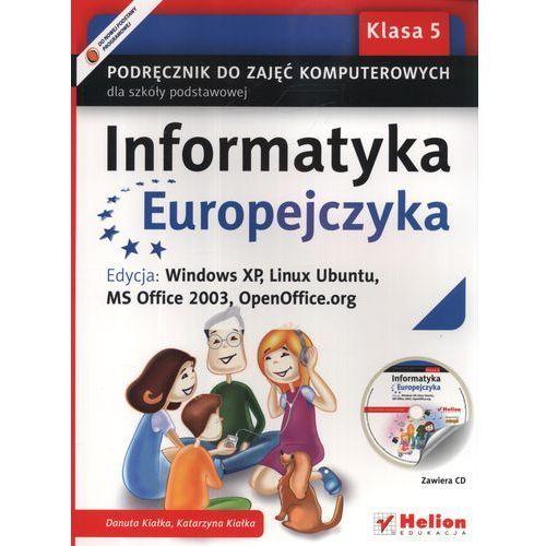 Informatyka Europejczyka 5 Podręcznik Do Zajęć Komputerowych Z Płytą Cd, helion