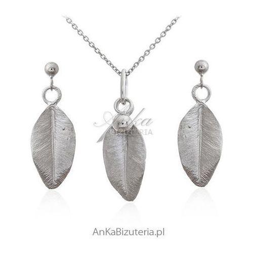 2736c8b5be5d Biżuteria srebrna komplet listki - Piękna subtelna bizuteria
