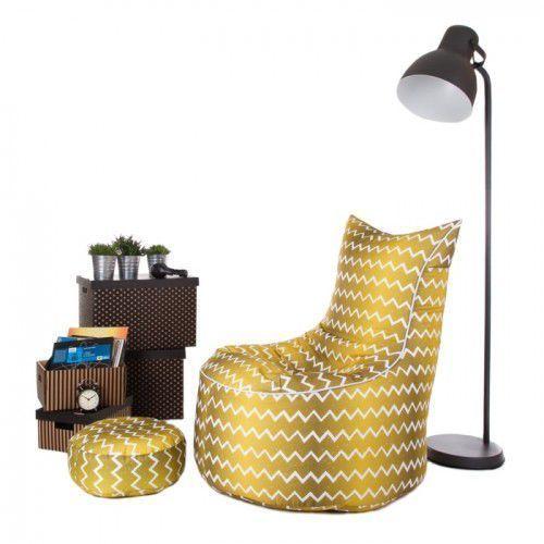Pufa, Fotel Jumbo XXXL ekoskóra lub tkanina drukowana