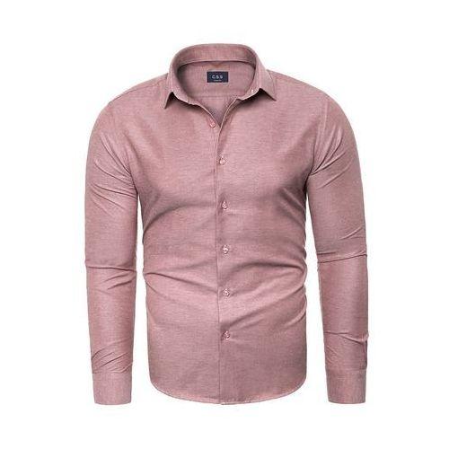 Koszula męska długi rękaw c.s.s 275 - ciemny róż, Risardi, M-XXXL