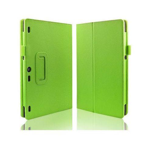 Zielone etui typu Stand Cover Lenovo Tab 2 A10-30 + Szkło hartowane - Zielony