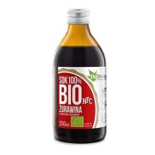Bio żurawina 100% sok 250ml marki Ekamedica