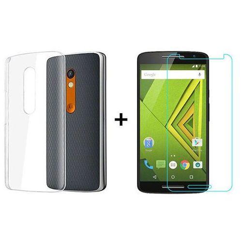 Zestaw | Obudowa Ultra Slim Przezroczysta + Szkło hartowane Perfect Glass | Lenovo / Motorola Moto X Play