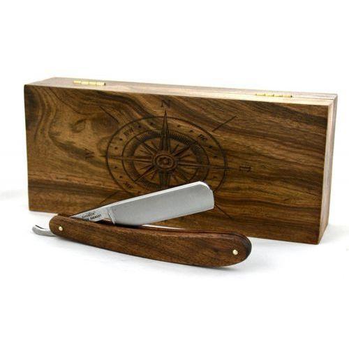Robert Klaas, brzytwa 5/8, drewno orzechowe + drewniane pudełko