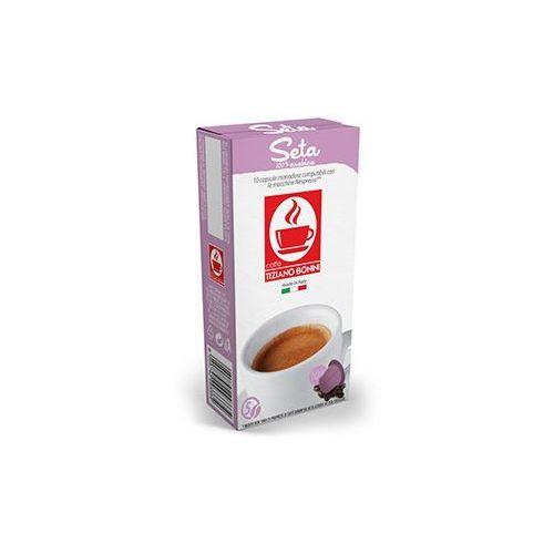 Caffe bonini Kapsułki do nespresso* jedwabista/seta 10 kapsułek - do 12% rabatu przy większych zakupach oraz darmowa dostawa (8055742993440)