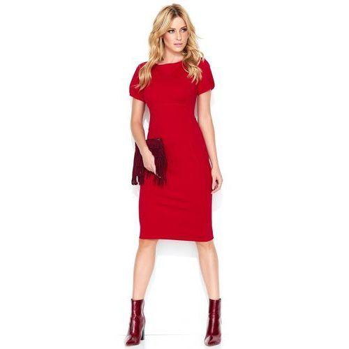 Makadamia damska sukienka 38 czerwona (5902041676341)