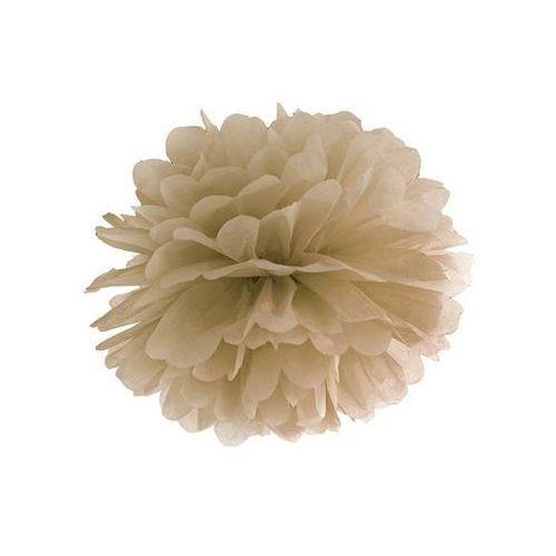 Dekoracja wisząca pompon kwiat - karmelowa - 35 cm - 1 szt. marki Ap