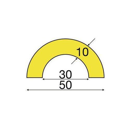 Shg pur-profile Osłona rurek knuffi®,typ r30, indywidualne docięcie na metr bieżący
