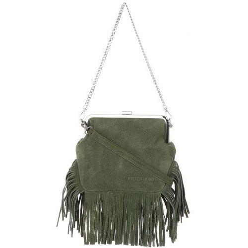 811333dfc8e3a włoskie torebki skórzane listonoszki w stylu boho w całości wykonane z  wysokiej jakości zamszu naturalnego zielone (kolory) marki Vittoria gotti  149,00 zł ...