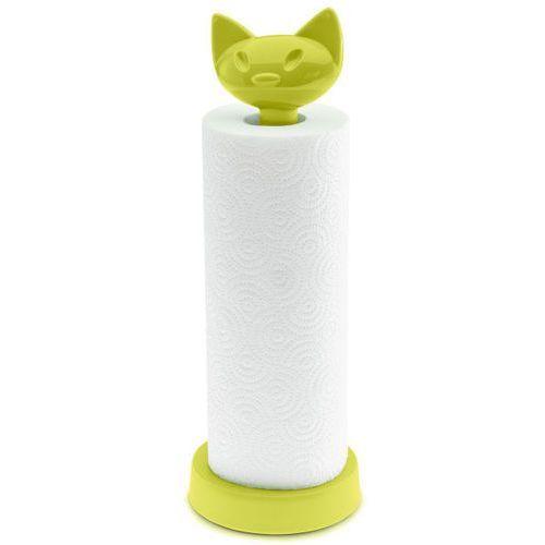 Stojak na ręcznik kuchenny miaou - kolor oliwkowy, marki Koziol