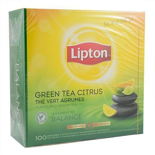 Herbata LIPTON Green Tea Citrus 100 kopert alu