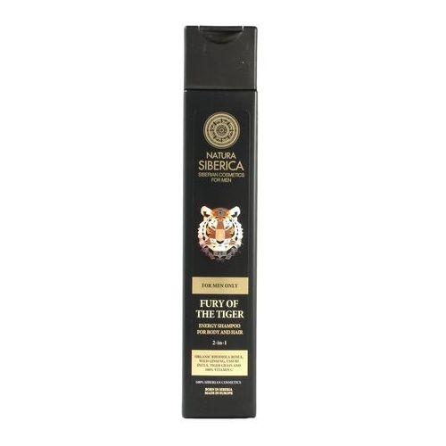 Natura Siberica Men - Energetyzujący szampon do mycia włosów i ciała 2w1 Wściekłość Tygrysa (4744183012967)
