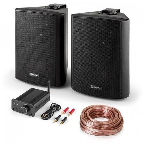 Elektronik-star Zestaw hi-fi pa para głośników z mini wzmacniaczem bluetooth