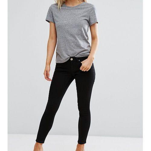 ASOS DESIGN Petite Whitby low rise skinny jeans in clean black - Black, kolor czarny