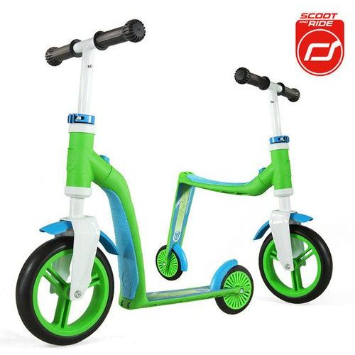 - Highwaybaby 2w1 hulajnoga i rowerek 1+ Green, Scootandride