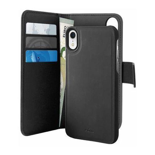 Puro Wallet Detachable Etui 2W1 iPhone Xr (Czarny), kolor czarny