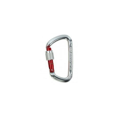 Climbing technology Krabinek d-shape cf sg (screw gate) - silver/red